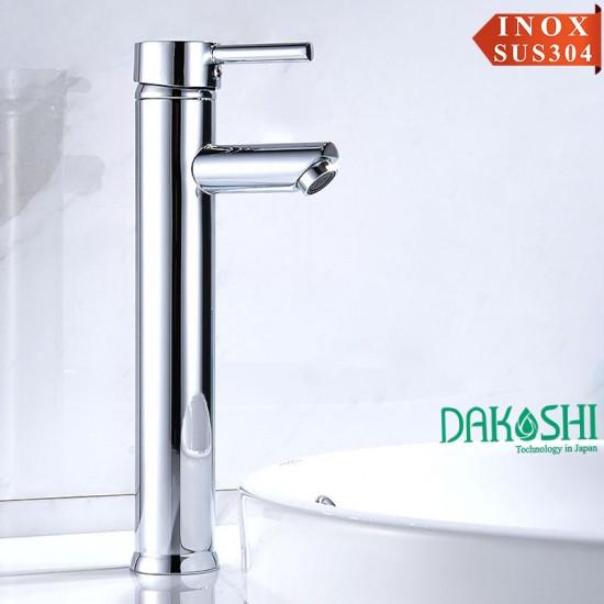 Vòi chậu rửa mặt lavabo inox Dakoshi I207B Nóng Lạnh