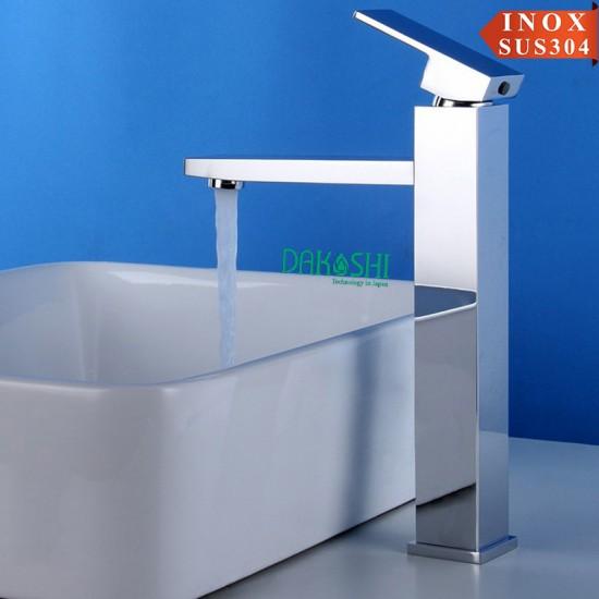 Vòi chậu rửa mặt lavabo inox Dakoshi I208B